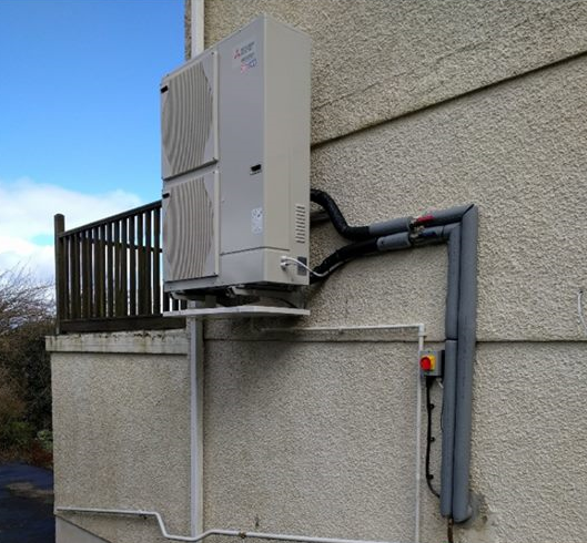 A Space Saving Installation of an Air Source Heat Pump